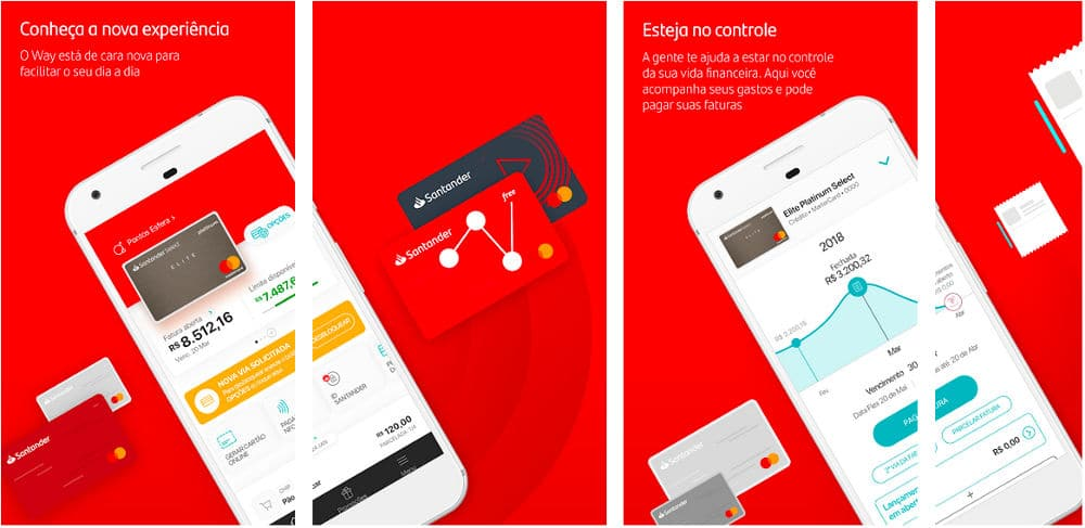 App Santander Way para Android e iOS da Apple
